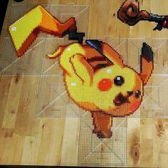 """Pikachu - Pokemon perler beads by ThePerlersEdge (20""""x 21"""")"""