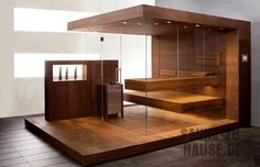 Exclusive design sauna - custom-made to your wishes. Take a look at our inspirations for your individual, customized glass-fronted sauna design!