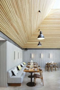 Softroom Architects has renovated this century village pub in an English village to host a culinary school, a bar and a glass-fronted restaurant Restaurant Interior Design, Commercial Interior Design, Cafe Interior, Commercial Interiors, Modern Interior, Mensa, Bar Design, Hotel Restaurant, Nate Berkus