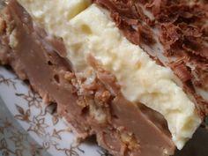 Γλυκό ψυγείου με μπισκότα και τριμμένη σοκολάτα της Gretel φωτογραφία βήματος 11 Greek Recipes, Deserts, Pie, Pudding, Cooking, Ethnic Recipes, Sweet, Food, Georgia