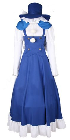 Onecos Touhou Project Kirisame Marisa Blue Dress Cosplay Costume * Be sure to check out this awesome product.