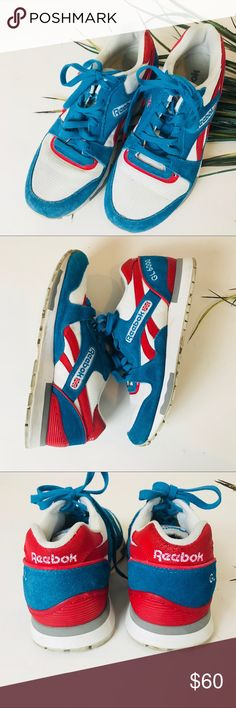 d1d3ae0bb51147 Reebok Classics. GL 6000 Tennis shoes Classic GL 6000 turquoise and red  tennis shoes Size