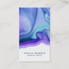 Shop Blue Purple Watercolor Agate Makeup Artist Business Card created by whimsydesigns. Graphic Design Posters, Graphic Design Inspiration, Graphic Designers, Banners, Bussiness Card, Makeup Artist Business Cards, Artist Card, Business Card Design, Creative Business