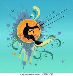 Kiteboarding Stock Vectors & Vector Clip Art | Shutterstock