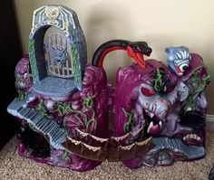 Castle Grayskull & Snake Mountain repaints by Ryan Lansdon | Killer Kitsch