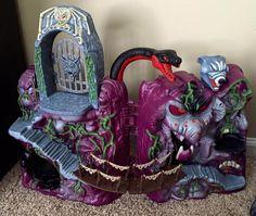 Castle Grayskull & Snake Mountain repaints by Ryan Lansdon | Killer Kitsch