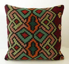 Sukan / Hand Woven Turkish Kilim Pillow Cover 16x16 by sukan. $189.95, via Etsy.