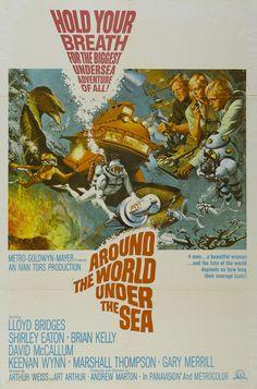 """Around the World Under the Sea""(1966)  Director: Andrew Marton ~Stars: Lloyd Bridges, Brian Kelly, Shirley Eaton, David McCallum, Keenan Wynn, Marshall Thompson, Gary Merrill"