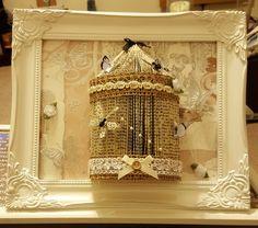 Framed birdcage Bird Cage, Book Art, Chandelier, Ceiling Lights, Lighting, Frame, Home Decor, Picture Frame, Candelabra
