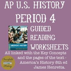 Apush full year guided reading worksheets americas history ap us history period 4 guided reading worksheets americas history james henretta fandeluxe Choice Image