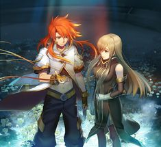 Tear Grants and Luke fon Fabre (Tales of the Abyss)