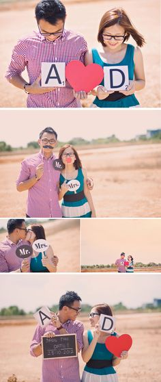Love this! Good idea to have props for the Engagement Shoot. Hmmm... something to bear in mind.
