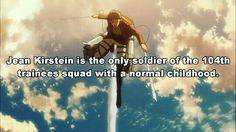 Shingeki no Kyojin. Attack on Titan. Jean Kirstein. Manga. Anime facts