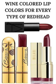 Wine Colored Lip Colors For Every Type of Redhead