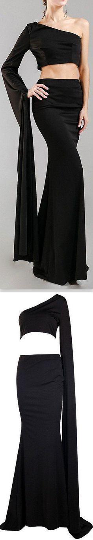 ff80fd5e382 Black Velvet Jumpsuit with Gold Chain Belt