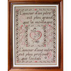 Marquoir Amour d'un Père et d'une Mère - Faby Reilly Designs