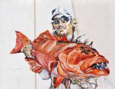 """Saatchi Online Artist Inge Koetzier Van Hooff; Painting, """"Catch of the day"""" #art"""