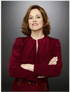 """Sigourney Weaver is known for playing strong female characters. She played a high-powered investment banker in """"Working Girl,"""" the First Lady in """"Dave"""" a. Strong Female Characters, Sigourney Weaver, Actrices Hollywood, Portraits, Mockingjay, Tall Women, Sensual, American Actress, Lady In Red"""