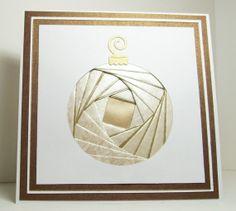 Iris Folded Card - Christmas Ornament