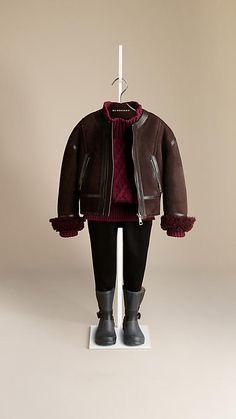 Shearling Bomber Jacket | Burberry