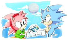 Classic Sonamy Sonic And Amy, The Sonic, Sonic Art, Sonic Boom, Amy Rose, Sonic The Hedgehog, Classic Sonic, Eggman, Sonic Franchise