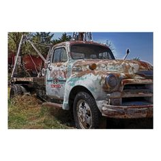 Route 66 Vintage Tow Truck Poster