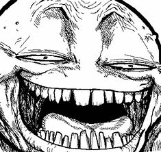 Hyper Troll face meme on All The Rage Faces! Rage Faces, Whats Wrong With Me, Troll Face, Minding Your Own Business, You Are My Favorite, Scary Stories, Your Crush, Having A Crush, Derp