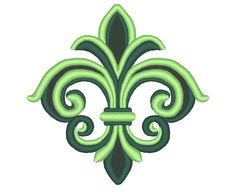 Detailed Elegant Fleur-de-Lis Embroidery Machine by OCDEmbroidery