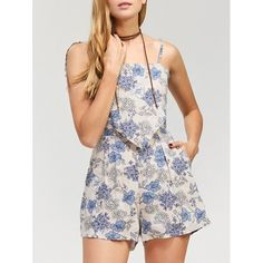14.32$  Watch here - http://dicqy.justgood.pw/go.php?t=207963704 - Floral Print Open Back Romper 14.32$