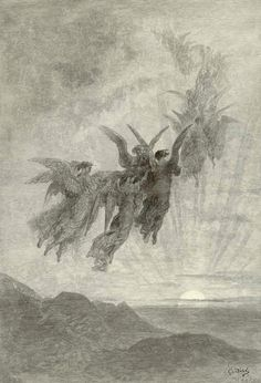 """Doré for """"The Raven"""" - plate 8 - Nameless Here for Evermore"""