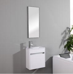 Meuble lave-mains Pluton Blanc 159€ existe en plusieurs finitions