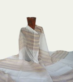 Beautiful Ethiopian Shawl Soft Delicate 100% Cotton Handwoven Traditional Loom