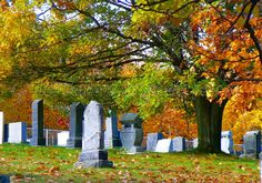 Vieux cimetière jouxtant l'église Holy Trinity.