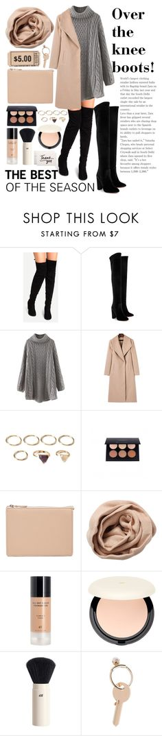 """""""FALL 2016 - OVERKNEE BOOTS"""" by javorkozima ❤ liked on Polyvore featuring Aquazzura, WithChic, Forever 21, Anastasia Beverly Hills, ASOS, Brunello Cucinelli, H&M and Maison Margiela"""