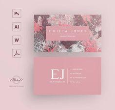 Marble business card template / creative / card design /