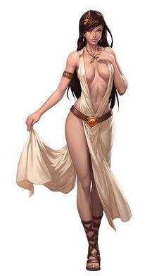 "Female NPC Sketch by Stanley ""Artgerm"" Lau"