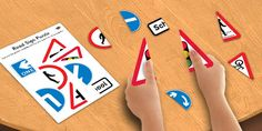 Road Sign Puzzle - road, sign, puzzle, road sign, activity, game