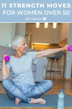 Exercise not only keeps you feeling and looking younger, but actually physically slows down the aging process. Here are 11 low-impact exercises that will work every muscle group and give you a good total body workout. Fitness Workouts, Fitness Workout For Women, Easy Workouts, Fitness Diet, Fitness Motivation, Health Fitness, Weight Training Workouts, Fitness Women, New Shape