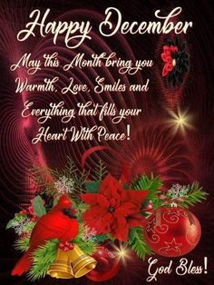 Happy December month december mber quotes happy december welcome december Christmas Verses, Christmas Blessings, Christmas Wishes, Christmas Art, Christmas Greetings, Christmas Morning, Happy New Month December, December Wishes, Hello December