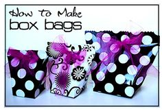box bags! going to try this for the next birthday!