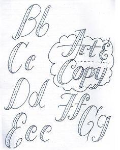 joe newton typography sketches