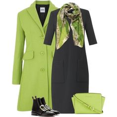"""""""bright coat for office"""" by bodangela on Polyvore"""