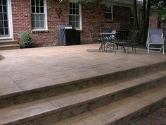 concrete porch stairs design   ... concrete patio and steps were poured atop an existing concrete patio