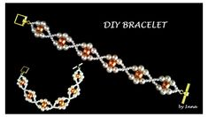 How to make a beaded bracelet.  Beginners pattern