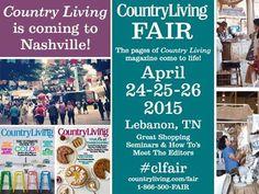 Country Living Fair, April 24-26 2015; Lebanon, TN
