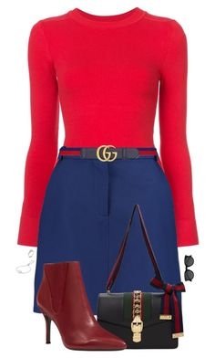 """Untitled #667"" by bellax0x on Polyvore featuring JoosTricot, Carven, Gucci, Nine West, Michael Kors and EyeBuyDirect.com"