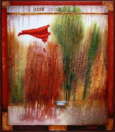 AKÉSI MIESTO V ZÁHRADE IRIJ, 140x120 cm, mixed media / SOME PLACE IN THE GARDEN IRIJ Bratislava, Mixed Media, Gallery, Places, Garden, Painting, Art, Art Background, Garten