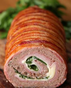 Wonderful! | This roll of stuffed meat will excite you.