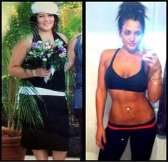 before and after pic. Fitspiration ~ Re-Pinned by Crossed Irons Fitness  -- Feel what it will be like to more than 38.5 lbs in 1 month... looking at your sexy, slim, happy new you in the mirror!