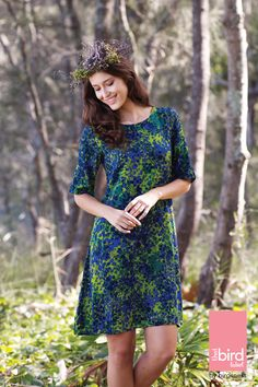 #thatbirdlabel Robbie Dress Style Guides, Fashion Brand, Personal Style, Short Sleeve Dresses, Vibrant, Fashion Outfits, Summer Dresses, Clothes, Shopping